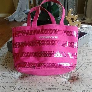 Victoria Secret glitter travel bag